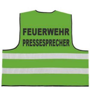 Feuerwehr Funktionsweste 2-zeilig FEUERWEHR / PRESSESPRECHER
