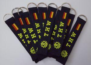 10er SparPack - THW Schlüsselanhänger mit beidseitigen gesticktem THW-Logo