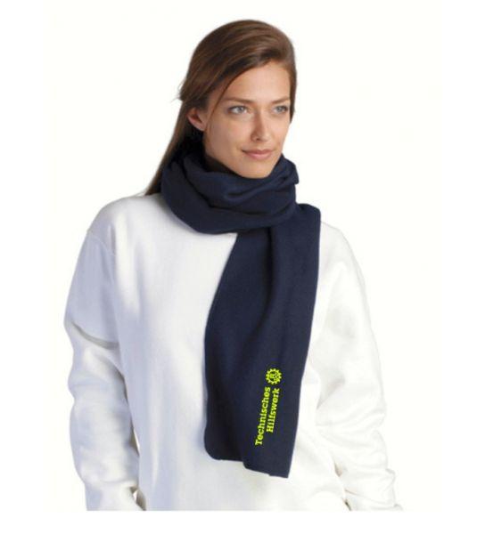 THW Fleece-Schal mit gesticktem Technisches Hilfswerk Logo, auf Wunsch mit OV