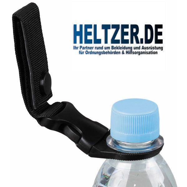 Flaschenhalter für Getränkeflaschen an Gürtel, schwarz