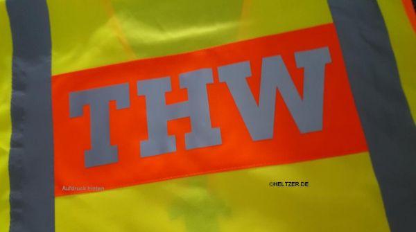 THW Warnweste / Signalweste - mit Aufdruck THW