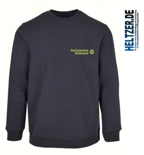 THW Sweatshirt (bis 5XL!) mit gesticktem Technisches Hilfswerk Logo, auf Wunsch mit OV